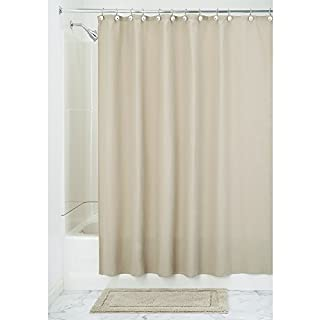 InterDesign York Hotel Fabric Cotton and Polyester Blend Shower Curtain, 54 x 78, Natural (B00R2SHFLK) | Amazon price tracker / tracking, Amazon price history charts, Amazon price watches, Amazon price drop alerts