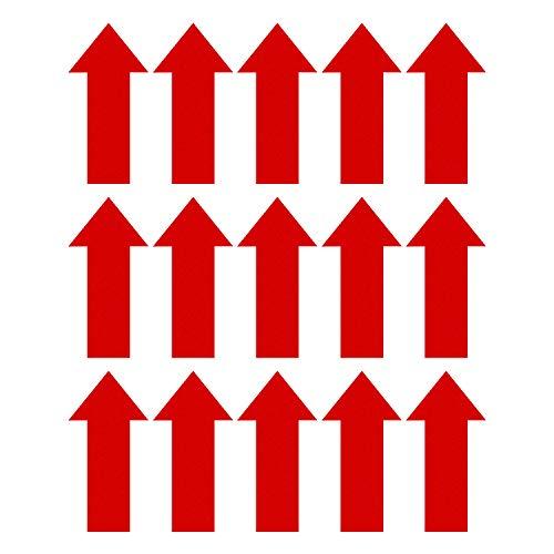 SAVITA 15 Stück 30 cm Pfeilabziehbilder Markierung Pfeilaufkleber Abnehmbares Selbstklebendes Wegweiser Für Temporäre Boden- Und Wandanwendungen (Rot)