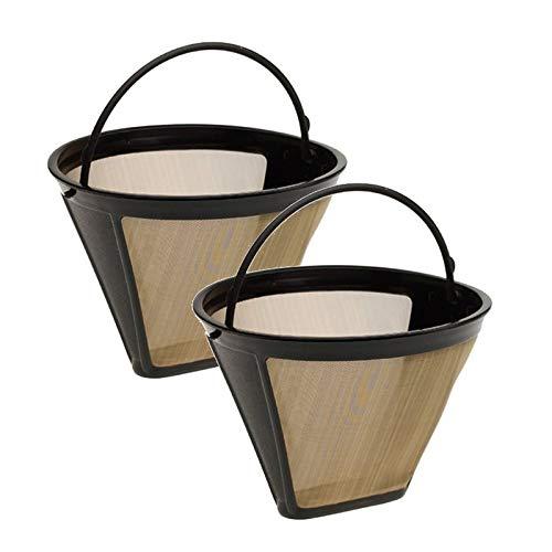 PANGUN 2 Pack para Cuisinart GtfC # 4 De Oro Tono De Sustitucion Permanente Filtro De Cafe