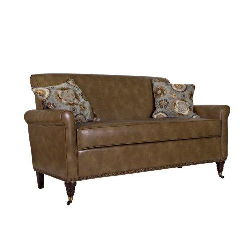 Hot Sale angelo:HOME Harlow Sofa in Milk Chocolate, Brown Renu Leather