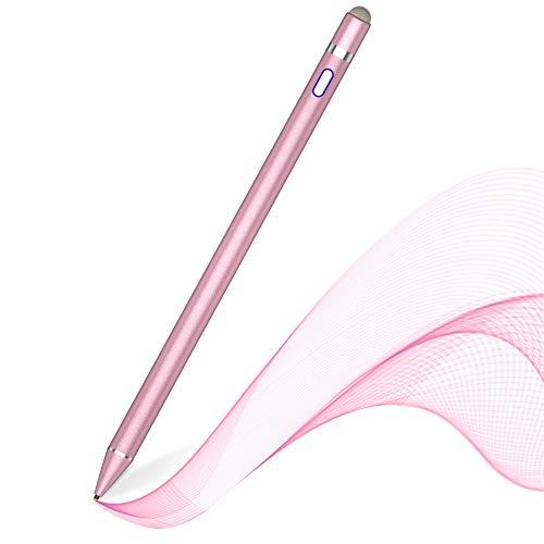 MPIO Stylus Stift, Kompatibel mit iPads/Tablets/iPhones/Samsung/Lenovo/LG/HTC,Wird zum Zeichnen und Schreiben von Touchscreen-Smartphones und -Tablets verwendet Rosa