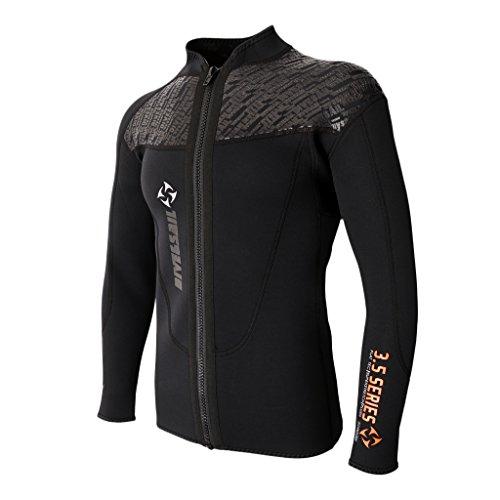 Bonarty Herren Neoprenjacke Premium Neopren UV-Schutz Neoprenanzug Männer Surfshirt Schwimmshirt Oberteile Tops für Wassersport - XL