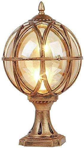Lámpara De Pared Simple Y Fresca Europea impermeable Pilar Poste al aire libre luces de cristal clásico linterna Victoria globo esférico Villa Jardín Columna paisaje de la calle del césped Iluminación