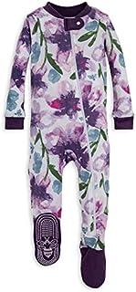 Burt's Bees Baby - Baby Girls Sleeper Pajamas, Zip Front...