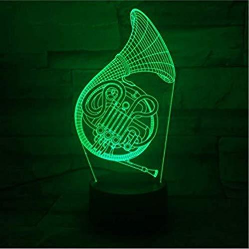3D Illusie lamp Saxofoon Nachtlampje Geschikt voor Kinderen Familie Vrienden Verjaardag Valentine USB 7 Kleuren (Afstandsbediening)