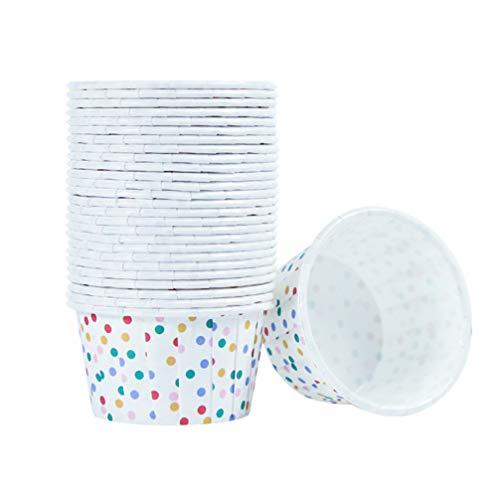 UPKOCH 100 Stück Papier Eisbecher Pappschalen Dessert Joghurt Vorspeisen Snacks Behälter Einweg Dessertschalen Becher für Eisbecher, Frozen Yogurt, Suppe, Braun