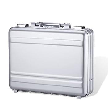 Tokers Metal briefcases for men Aluminum Attache cases Gun Metal 16 Inch 18.1X13.8X6.1Inch