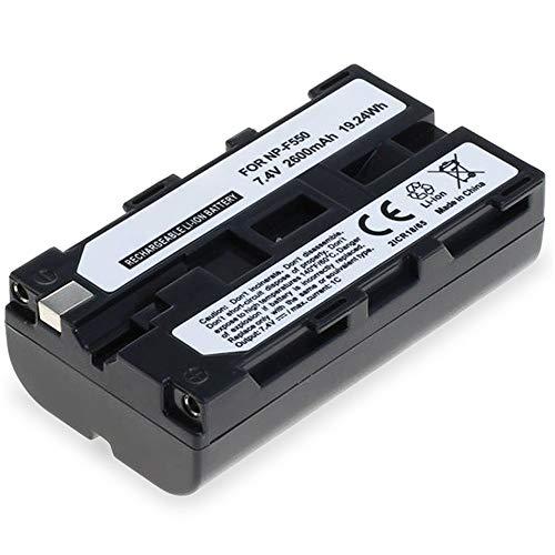 subtel® Batería Premium Compatible con Sony HDV-Z1 DCR-VX2100e DCR-TRV9 DSR-PD150 -PD170 HDR-FX7e -FX1 GV-D200 HDR-FX1000e, NP-F550 -F330 -F750 2600mAh bateria Repuesto Pila