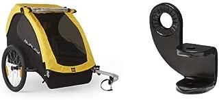 Burley Design Bee Bike Trailer, Yellow and Burley Design 12.2MM Steel Hitch Bundle