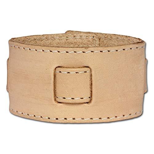 SilberDream Lederarmband Hellbraun mit Metallverschluß für Damen oder Herren Leder Armband Echtleder LA3268N