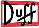 Duff Beer Logo Retro Cartoon The Simpson Wall Bar Man Cave Decor Metal Tin Sign TIN Sign 7.8X11.8 INCH