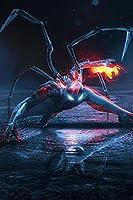 スパイダーマン映画ポスターウォールアートスターポスター壁画装飾ポスター寝室とリビングルーム壁画ギフト40x60cm(16x24インチ)フレームなし