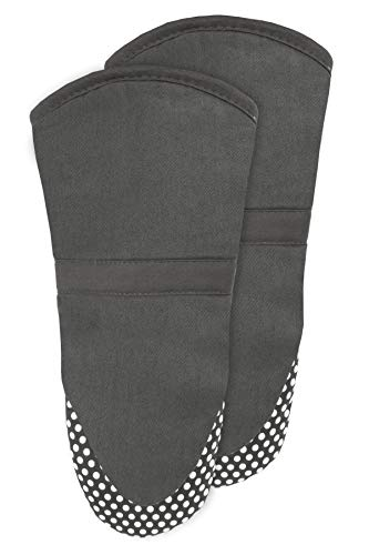 RITZ Royale Silicone Oven Mitt, 2-Pack, Graphite
