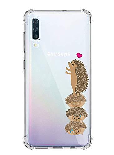Oihxse Compatible pour Coque Transparent Samsung Galaxy Note 9 Ultra Mince TPU Silicone Souple Housse Fine Mignon Motif Dessin Bumper Anti-Scratch Protection Etui Case Cover (Hérisson)