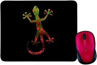 Alfombrilla para ratón con diseño de animales y animales, color negro