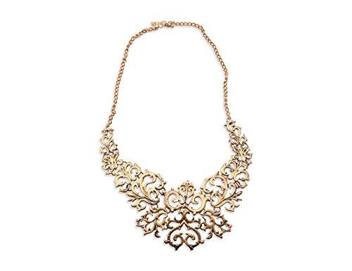 Enez XXL Damen Kette Halskette Necklace Spike Choker Collier Retro 50cm R609