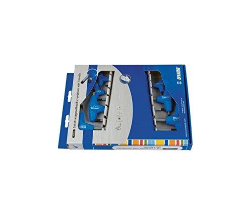 Unior 193HXCS Sechskantstiftschlüssel mit T-Griff, Set im Sichtkarton