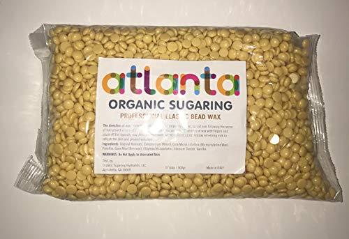 Organic Sugar Wax Hard Bead Wax for thick/coarse hair removal, professional elastic, sugaring