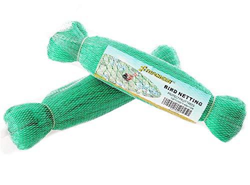 IME Bird Netting for Garden Anti Birds Net Mesh Protect Vineyard Fruit Vegetables Flowers Plants Reusable Fencing Green 2X10 M(2 Pack)