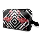 Bolsa de almacenamiento de maquillaje de viaje - Bolso de aseo portátil pequeño organizador de cosméticos para mujeres y hombres - hermoso rosa s