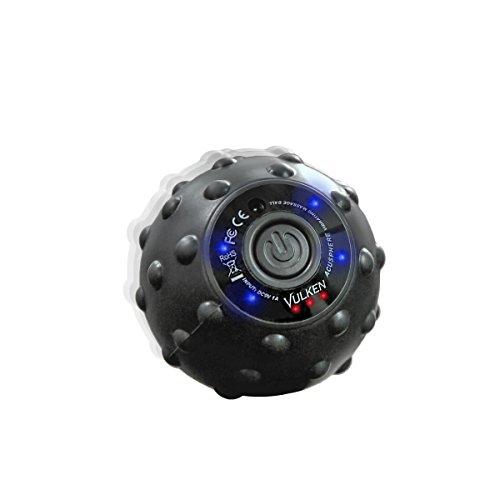 Vulken Acusphere 4 Intensitätsstufen Vibration-Ball Vibrierender Massage Ball für Muskel und Plantarfasziitis Schmerzlinderung, Myofaszial Verspannung und Triggerpunkttherapie. Fuß Massage Roller
