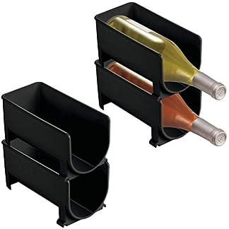 ABO-Clear-Bottle-Rack-Horizontaler-Weinhalter-verlngert-die-Lebensdauer-von-Wein-und-Kork-stapelbare-Weinregale-jeweils-4-Flaschen