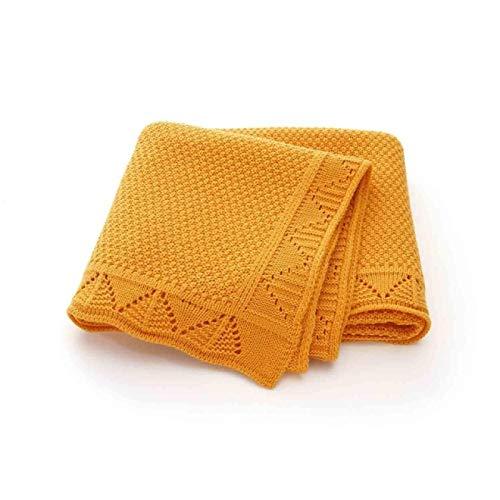 IADZ Manta, Mantas de Punto Manta Swaddle recién Nacido Moda sólido niño Cochecito Ropa de Cama sofá edredón 100 * 80 cm