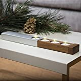 Konstantin Slawinski Adventskranz modern - Teelichthalter - Design-Weihnachtsdeko aus Holz & Metall für Tisch & Fenster - inkl. Teelichter