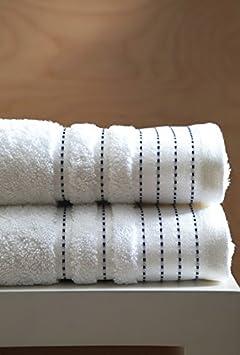 Blanc des Vosges Sir Bath Towel Cotton 140 x 70 cm White