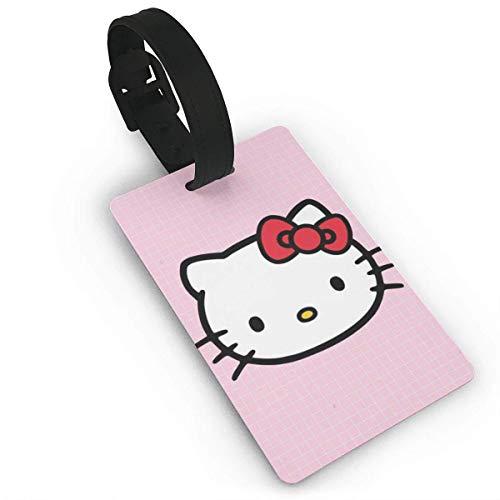 Hello Kitty Etiquetas de equipaje rosas para maleta de mano Etiqueta de equipaje de identificación de viaje
