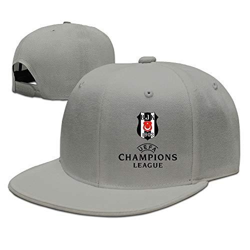 YVES Tomsib Besiktas Jimnastik Kulubu UEFA Champions Adjustable Snapback Baseball Hat Cap for Unisex Ash