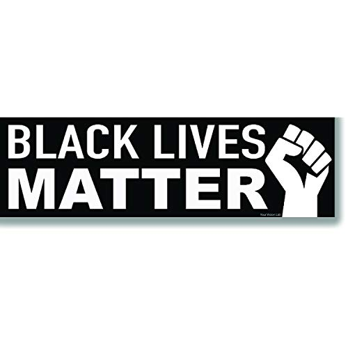 """Black Lives Matter Bumper Sticker 10""""x 3"""" Vinyl Decal - I Can't Breathe Anti Racism BLM Movement Protest for Laptop car Wall Bottle Window Luggage Travel Stickers Scrapbooking Skateboard t-Shirt Sign"""