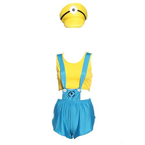 Anladia - Disfraz GRU, Mi Villano Favorito para Adulto Mujer Cosplay Dress Fiesta Carnaval Halloween Talla S (38) Talla M (40) Talla L (42) (S (38))