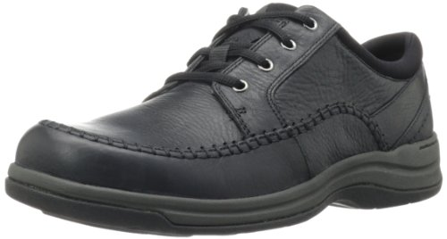 Clarks Men's Portland 2 Tie Casual Shoe,Black Leather,7.5 M US