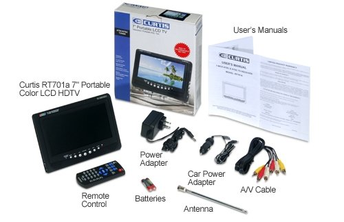 """Curtis RT701a 7"""" Portable Color LCD HDTV"""