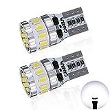 T10 LED ホワイト 爆光 2個 キャンセラー内蔵 LED T10 車検対応 3014LEDチップ18連 12V 車用 ポジション/ライセンスランプ/ナンバー灯/ルームランプ (一年保証)