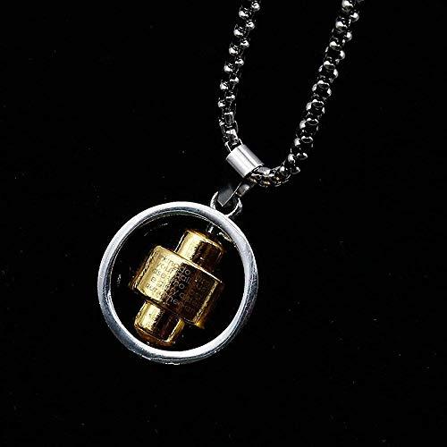 NC110 Americana Wild Collar Largo con Colgante de Anillo geométrico Collar de Cadena de clavícula de Acero Inoxidable para Hombres YUAHJIGE