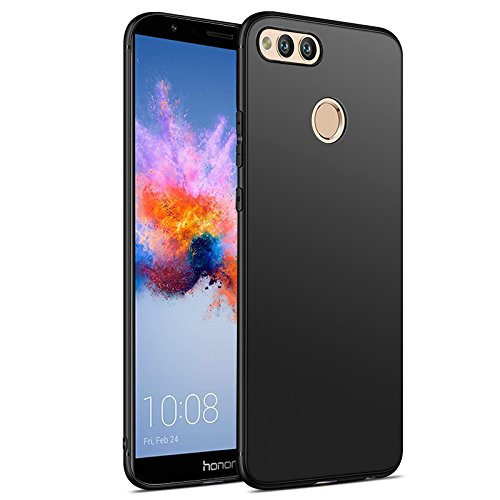Olliwon Huawei Honor 7X Hülle, Dünn Leichte Schutzhülle Schwarz Silikon TPU Bumper Case Cover für Huawei Honor 7X -Schwarz