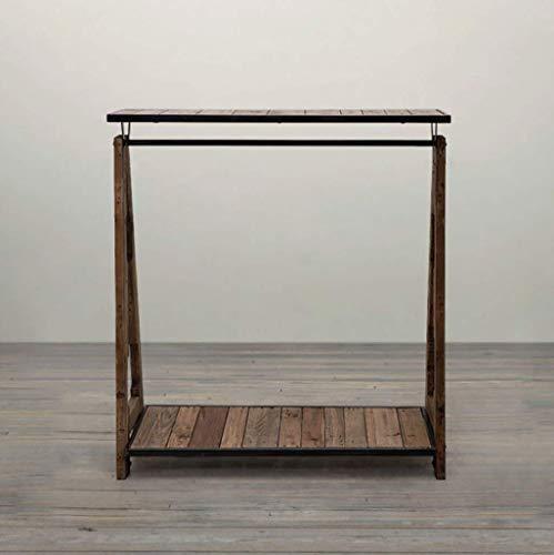 HYY-YY Perchero Do the old color floor clothing rack de madera para decoración de ropa, estante de ropa creativa, estantes para tiendas de ropa, tamaño: 100 x 40 x 140 cm