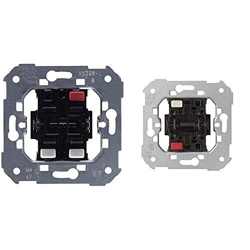 Simon 75398-39Conjunto de 2 interruptores, 10AX, 250V con sistema de conexión de terminal rápido +75101-39 interruptor unipolar s-75 Ref. 6557539001