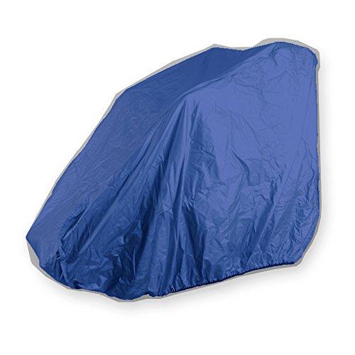 MPB® E-Rollstuhl und Rollstuhl Garage Abdeckplane aus geschmeidigem Nylon, blau, für nicht gefaltete und nicht faltbare Rollstühle