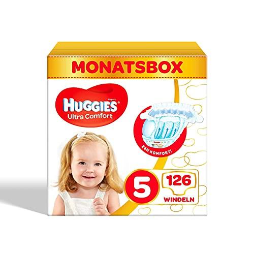 Huggies Ultra Comfort Babywindeln, Größe 5 (11–25 kg), 126 Stück