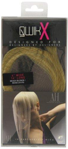 American Dream - AH/A1/QX/16/22/25 - Qwik X - 100 % Cheveux Naturel - Indien Remi Extensions - Couleur 22/25 - Blond Plage / Blond Léger - 41 cm