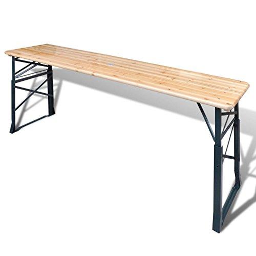 Festnight Klappbarer Biertisch Stehtisch Partytisch Biertisch Höhenverstellbar Tisch Campingmöbel Markttisch Flohmarkttisch Koffertisch 179x50x75/105 cm Kiefernholz