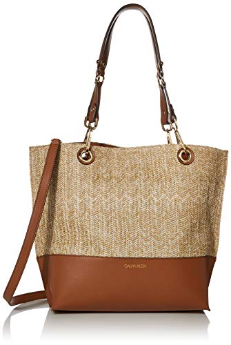 Calvin Klein Sonoma Reversible Novelty North/South Tote, Deep Straw