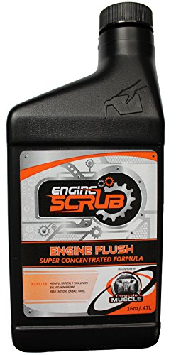 Throttle Muscle TM5646 - Engine Scrub Super Concentrated Engine Flush Oil System Cleaner Heavy Duty Engine and Crankcase Cleaner 16 Oz