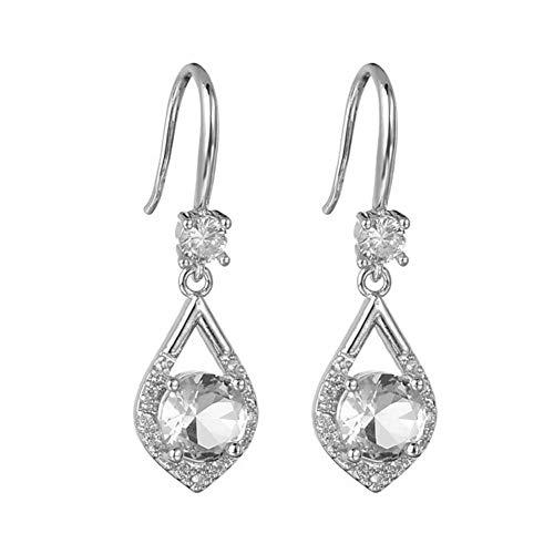 Vintage Blue Moonstone Drop Earrings for Women Jewelry Antique Flower Earrings Birthday Valentine's Day Gift by ShenTan