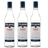 3x 0,7l Ouzo Pilavas Nektar 38% Vol. | + 1 x 20ml Olivenöl'ElaioGi' aus Griechenland
