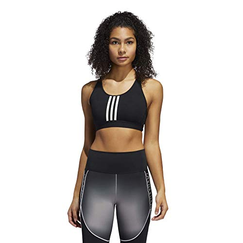 adidas Damen Damen Sport-BH Don't Rest Alphaskin Padded 3-Streifen Sport-BH, Black/White, M, FT3128
