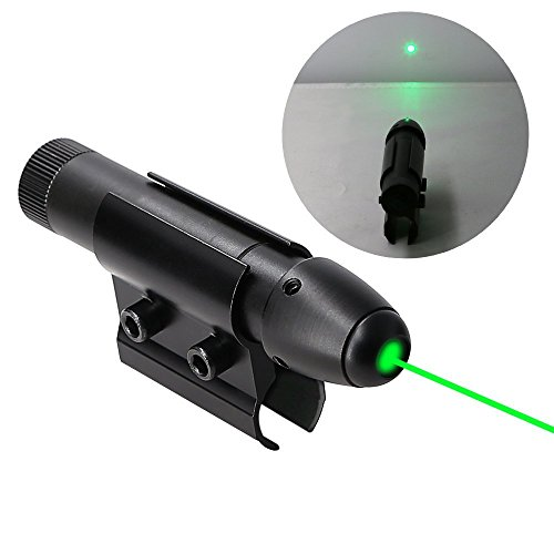 Higoo Powerful Green Laser Dot Sight, Military Tactical Hungting Green Laser Scope, Green Laser Aiming Sight